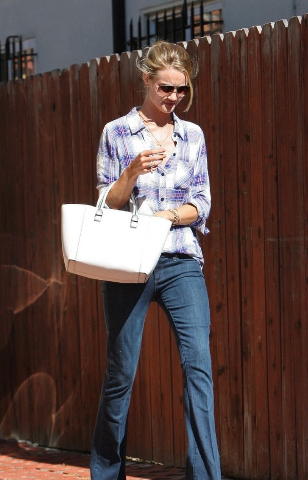 jeans shirt rosie huntington-whiteley bag