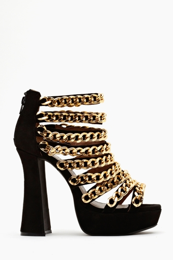 In chains platform in  shoes jeffrey campbell at nasty gal