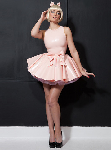 Latex Primrose Party Dress & Bow Belt | William Wilde UK