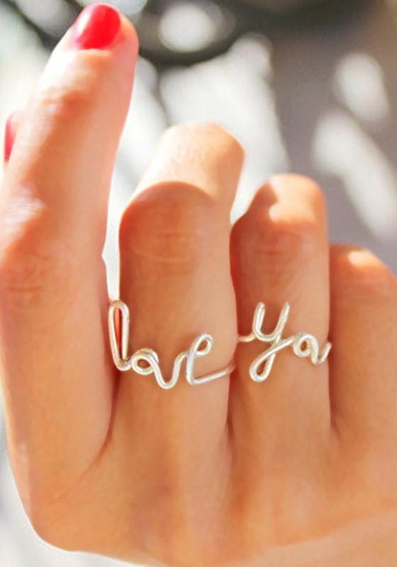 Двойное кольцо своими руками