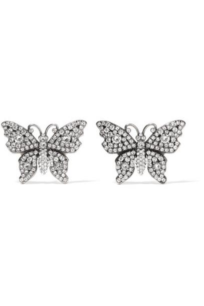gucci crystal earrings earrings silver jewels