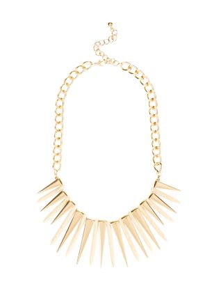 Gold Triangle Spike Necklace