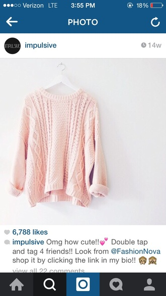 sweater colorful fashion cute sweaters pink sweater