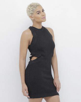 dress black dress cut-out cut-out dress sweater dress black sweater dress