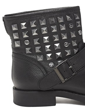 Bertie | Bertie Punk Rock Stud Biker Boot at ASOS
