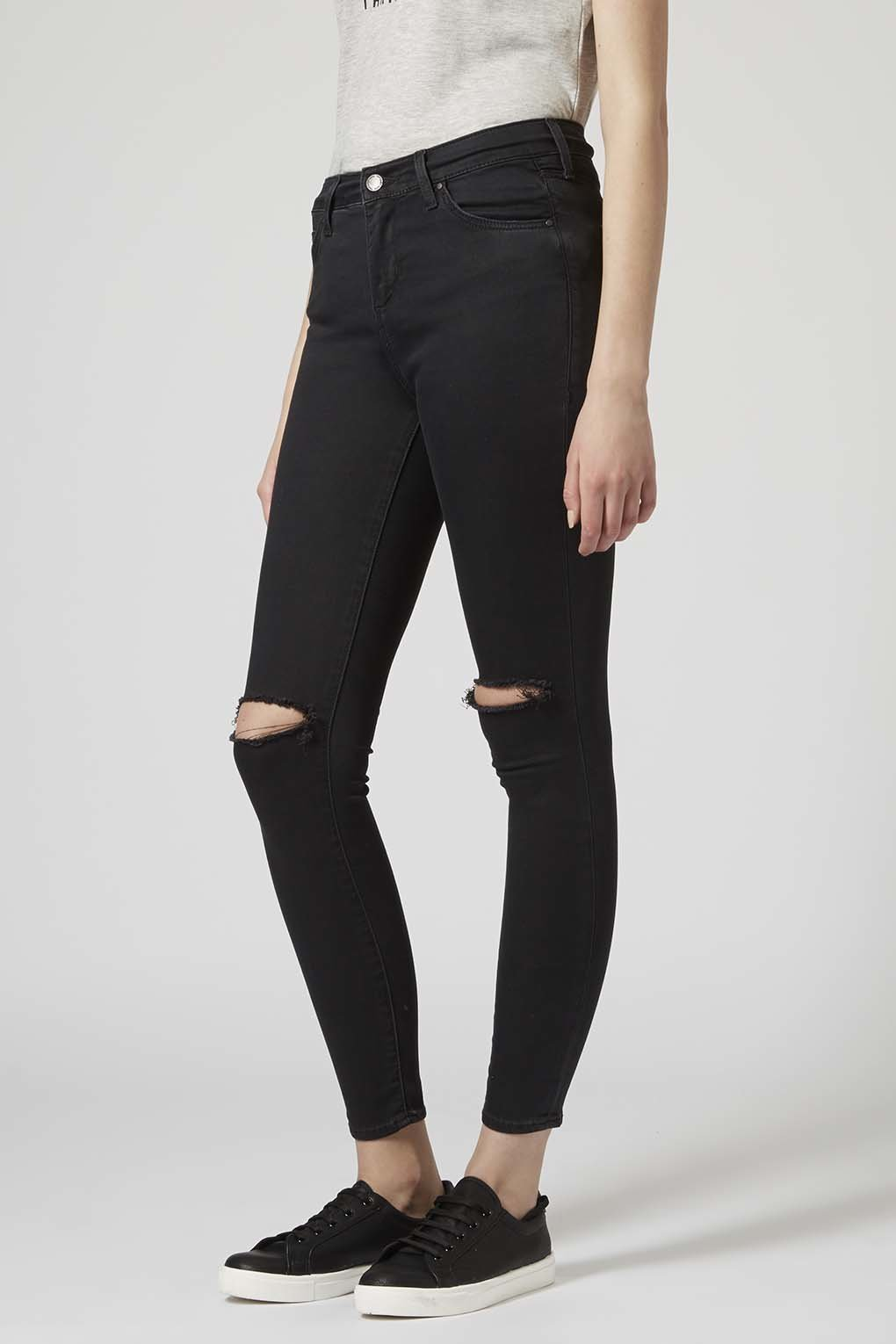 Washed Black Leigh Jeans - Topshop