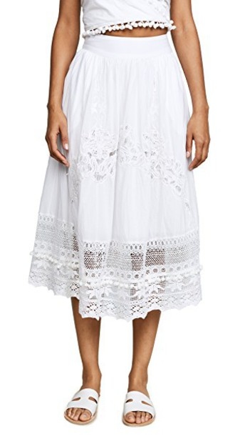 skirt midi skirt midi lace white