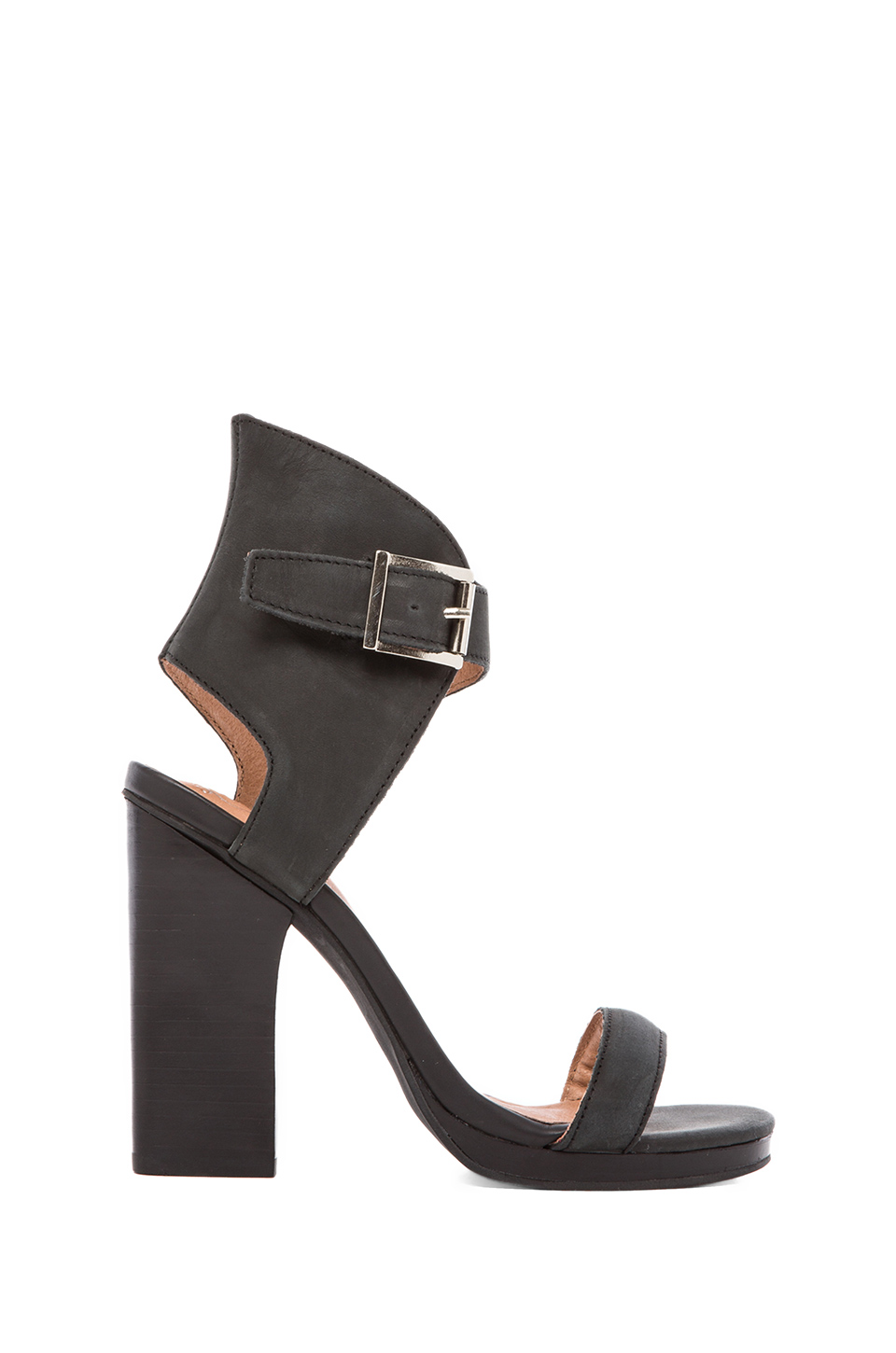 Jeffrey Campbell Shindig Heel in Black Washed Leather | REVOLVE