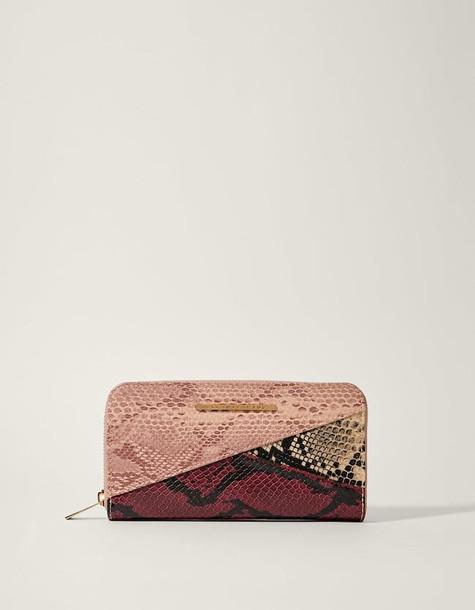 patchwork purse nude pink bag
