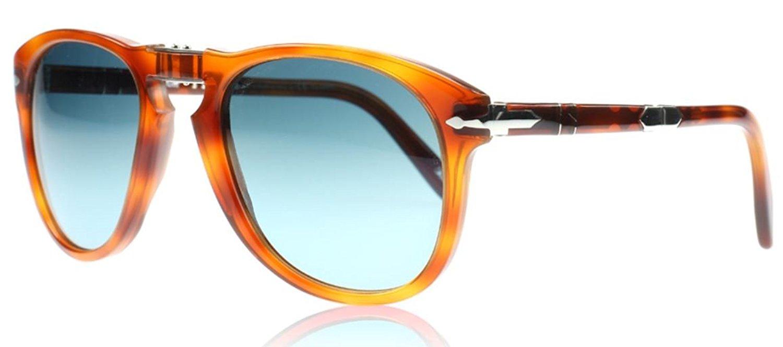 meilleure sélection d6fde 4df55 Amazon.com: Persol Steve Mcqueen Sunglasses (PO0714) Tortoise/Blue Acetate  - Polarized - 54mm: Persol: Shoes