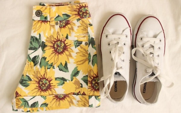 skirt sunflower shorts