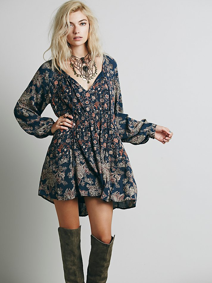 Free People Lucky Loosey Shapeless Dress