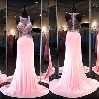 dress pink prom elegant formal style beautiful romantic vanessawu