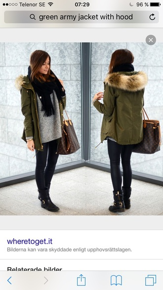jacket green army jacket jacket with hood olive green