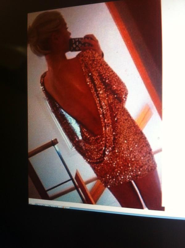 dress prom dress sequin dress gold
