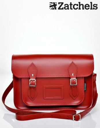 Zatchels Large Red Satchel - Lipsy