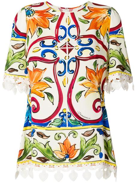Dolce & Gabbana blouse printed blouse women spandex cotton silk top
