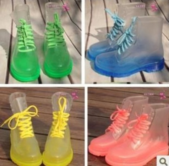 clear boots shoes all colors