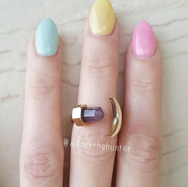 jewels ring gold moon cristal gemstone gemstone ring