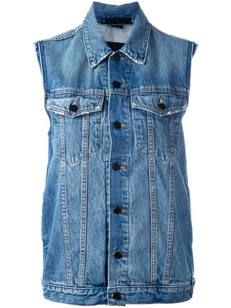 jacket denim jacket denim sleeveless women cotton blue