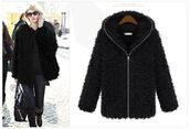 coat,black coat,faux fur,hooded coat,zip front coat,warm coat,winter coat,www.ustrendy.com