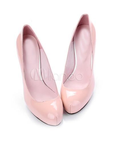 Classic Honey Girl Light Pink Platform Sheepskin Bow High Heel Womens Shoes - Milanoo.com