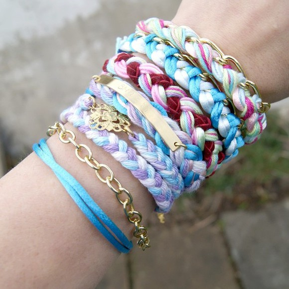 braid boho bracelets jewels friendship pastel jewellery jewelry ethno