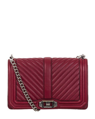 love quilted chevron silver bag