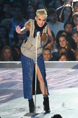 shoes boots ankle boots dress glitter sparkly dress katy perry vma mtv