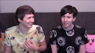 dan howell danisnotonfire amazingphil phill lester beige amazing dog t-shirt want it❤️