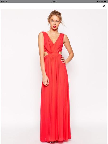 dress red maxi prom dress asos