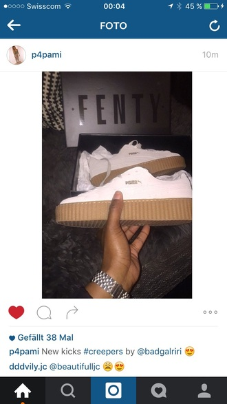 shoes fenty rihanna puma creepers white