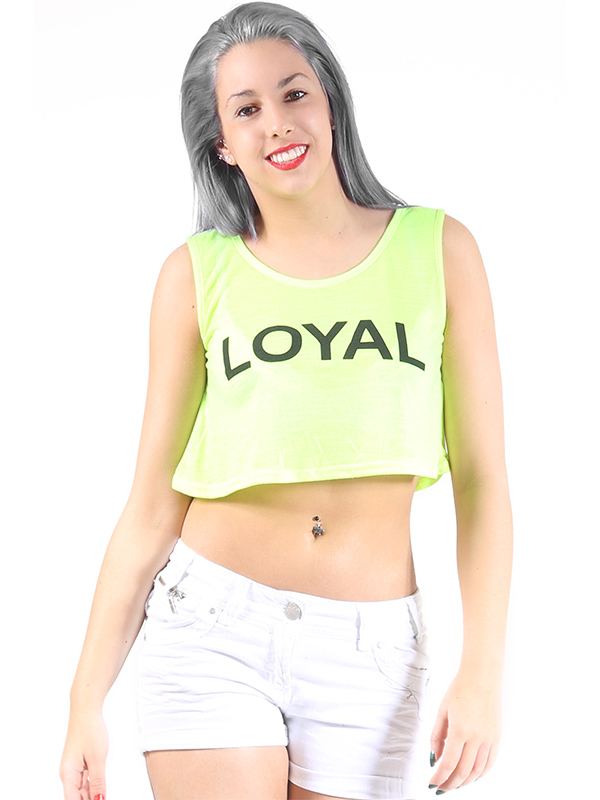Sarah loyal slogan crop top