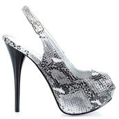 shoes,heels,high heels,open toes,slingback heels,silver,silver shoes,wedding shoes,wedding dress,prom shoes,prom heels,snake print,animal print