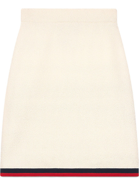 gucci skirt women white silk wool