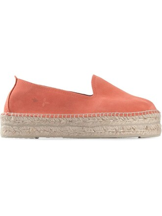 espadrilles suede yellow orange shoes