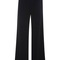 Black viscose stretch wide leg trouser by sally lapointe | moda operandi