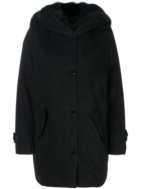 Ermanno Scervino coat fur women cotton black