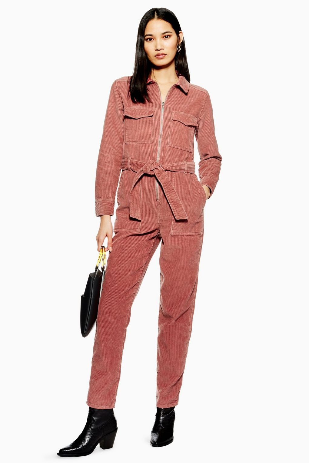 Pink Corduroy Boiler Suit - Rompers & Jumpsuits - Clothing