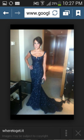 prom dress navy dress sparkly dress formal dress