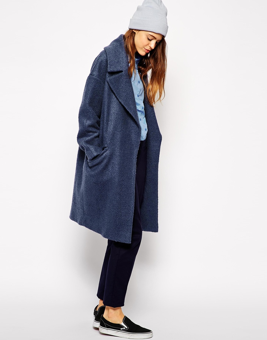 ASOS Slouchy Coat in Texture at asos.com
