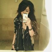 jacket,leather vest,zip,black leather,punk,biker jacket