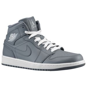 Jordan AJ1 Mid - Men's - Basketball - Shoes - Cool Grey/White/Cool Grey