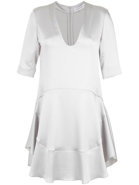 dress short dress short women grey metallic