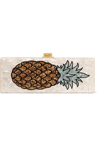 pineapple clutch beige bag