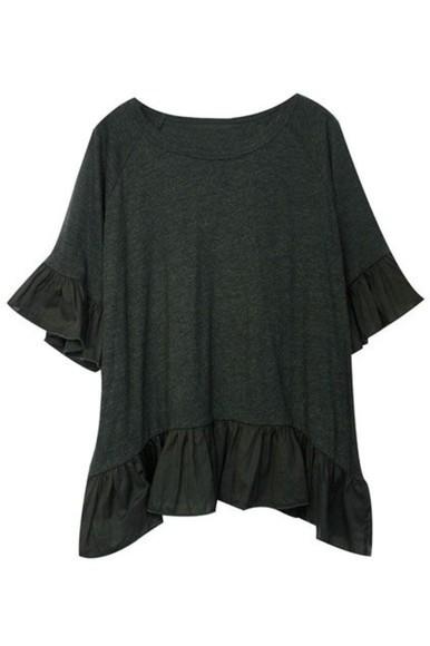 top t-shirt ruffles ruffle shirt great fuffle shirts ruffle tshirt ruffle t