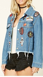 jacket,ripped,patched,denim jacket