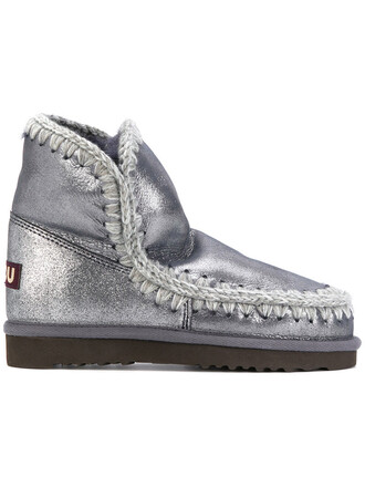 women embellished boots grey shoes