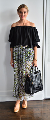top,skirt,olivia palermo,shoes