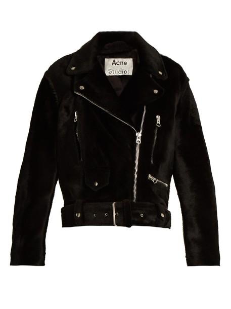 Acne Studios jacket biker jacket oversized black